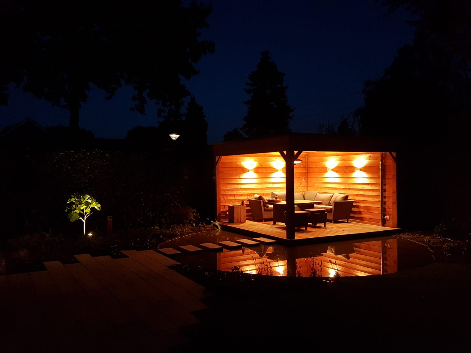 tuinverlichting aanleggen